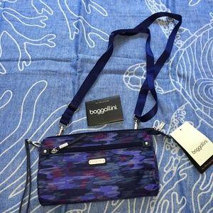 Baggallini Moonlight Camouflage RFID Crossbody Bag